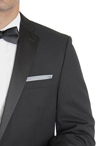 Calvin Klein Slim Fit Solid Black Two Button Tuxedo Suit 50R