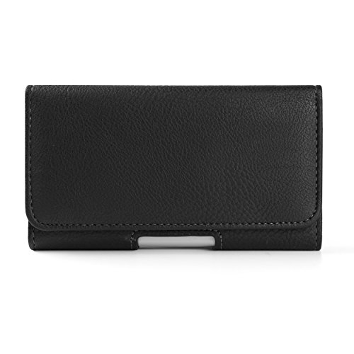 - PU Leather Belt Clip Holster Texture Horizontal Black Wallet Case Waist Pack for BLU Vivo XL3 Plus / X / 8L / Studio View XL / G3 / R2 Plus / Life One X3 / Grand 5.5 XL