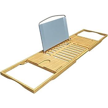 Amazon Com Bath Dreams Bamboo Bathtub Caddy Tray With