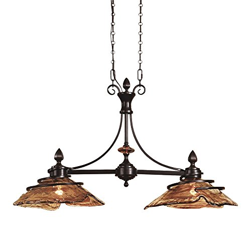 Uttermost 21225 Vitalia 2 Light Bronze Kitchen Island