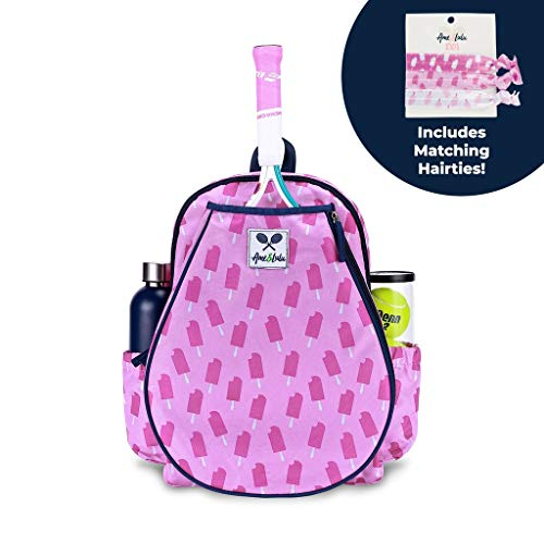 (Ame & Lulu Little Love Tennis Backpack, Purple Pops)
