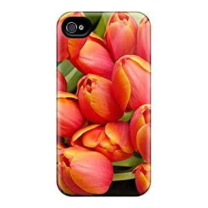 Luoxunmobile333 Samsung Galaxy Note2 N7100/N7102 - Retailer Packaging Tulip Flowers Arrangement Protective Cases