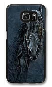 Galaxy S6 Edge plus Case, Shock-Absorption Back Case for Samsung Galaxy S6 Edge plus Forever Friesian Horse Scratch Hard Back Case for Samsung Galaxy S6 Edge plus