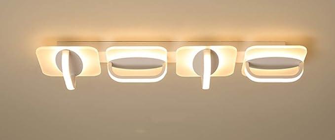 Plafón rectángulo LED originales creativos acrílico lámpara ...