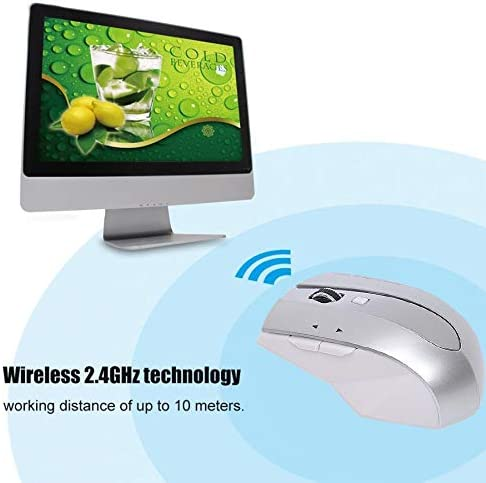 MZ-011 2.4GHz 1600DPI Wireless Rechargeable Optical Mouse with HUB Function Color : Blue