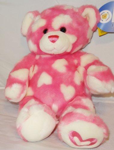 (Build a Bear Pink Hearts Teddy 16 Inch Plush Stuffed Animal Toy)