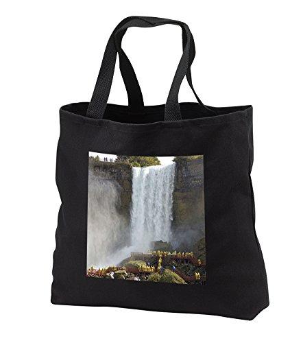 Danita Delimont - Waterfalls - Canada, Ontario, Niagara Falls. Walking the falls -CN08 LSE0002 - Lynn Seldon - Tote Bags - Black Tote Bag 14w x 14h x 3d - Shopping Niagara Ontario Falls