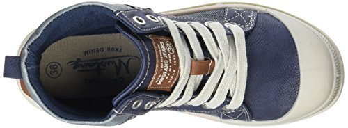 Mustang Dames 1160-506 Combat Boots Blue (800 Donkerblauw)
