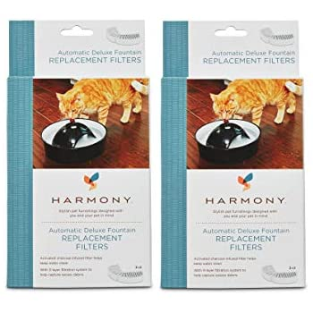 Harmony Automatic Deluxe Ceramic Cat Fountain Replacement Filters (6-ct)
