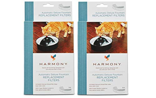 - Harmony Automatic Deluxe Ceramic Cat Fountain Replacement Filters (6-ct)
