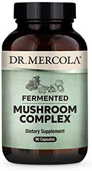 Dr. Mercola, Fermented Mushroom Complex Dietary Supplement, 30 Servings 90 Capsules , Supports Immune Health and Digestive Health Non GMO, Soy Free, Gluten Free
