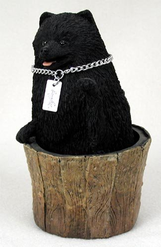 - Pomeranian Black MyDog Figurine