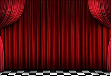 Amazon Com Aofoto 7x5ft Red Velvet Stage Curtains Backdrop Theater