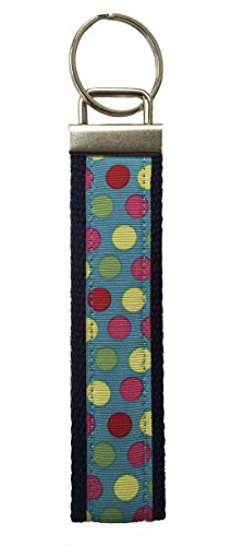 Keychain Keyfob Wristlet Cute and Stylish Strap for Women by Wristys (Circus Circles) (Circle Wristlet)