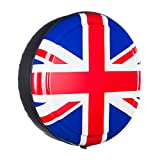 35'' Rigid Tire Cover - (Hard Plastic Face & Vinyl Band) - Union Jack