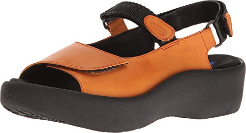 Womens Sandals Leather Canals Wolky Jewel Denim Orange 3204 OgqYxH