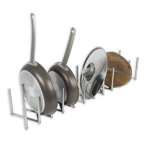Kitchen Pot Lid Plate Holder Rack Stainless Steel 11 Sectional Adjustable Length Accordion Style Can Be Extended to 40 inch Rare Longer and Wider Design