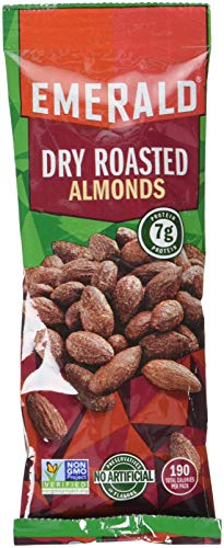 Emerald Dry Roasted Almonds, 1. 5 oz. Tube Package, 12/Box