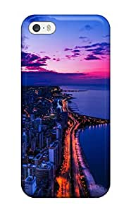Hot Case Cover Protector For Iphone 5/5s- Chicago Sunset