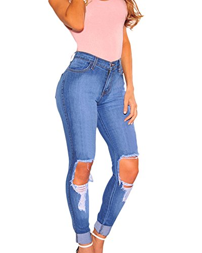 Pants Jeans Leggings Collant Dchir Skinny Crayon Denim Aspecture Femme Casual Slim Pantalons RA1Ownqv