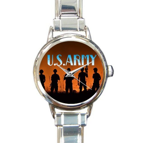 Hot Sale Watch Military US Army Soldiers Round Italian Charm stainless steel Watch by US Army Watch