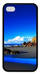 Blue Sky TPU Black Case for iphone 4S/4