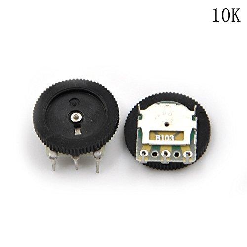 10Pcs 16*2mm Dual Linear B503 1K-50K Dial Potentiometer Gear Wheel OF