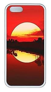 iPhone 5 5S Case Landscapes tropical Sun TPU Custom iPhone 5 5S Case Cover White