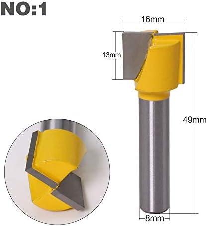 1pc 8mm Schaft Gravur Bottom Reinigungs Fräser CNC-Fräser Endmill for Holz VHM zur Holzbearbeitungswerkzeuge (Größe : NO 3)