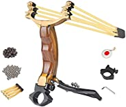 ALPEKE Professional Slingshot Set, Slingshots for Hunting Wrist Support Power with Rubber Band Replacement, St