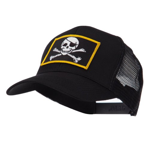 Skull and Choppers Embroidered Military Patched Mesh Cap - Jolly Roger ()