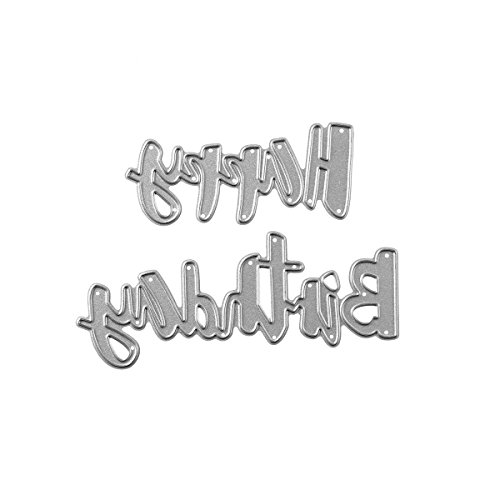 Happy Birthday Words Metal Cutting Dies Stencils for DIY Scrapbooking Photo Album Embossing Paper Cards Crafts (A) by DOULY (Image #3)