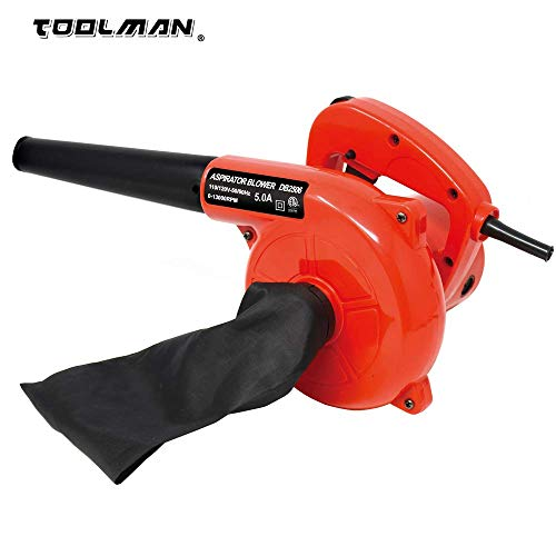 Toolman Corded Electric Compact Leaf Blower Sweeper Vacuum Cleaner 5.0A 6 Speed 13000RPM Works with DeWalt Makita Ryobi Bosch Skill Accessories