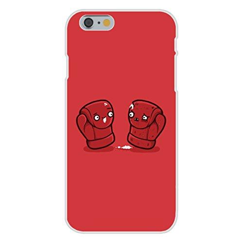 "Apple iPhone 6+ (Plus) Custom Case White Plastic Snap On - ""Boxing Gloves"" Box Match Humor"