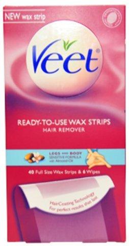 Veet - Legs & Body Ready To Use Wax Strips Kit (2 Pc Kit) 1 pcs sku# 1900082MA