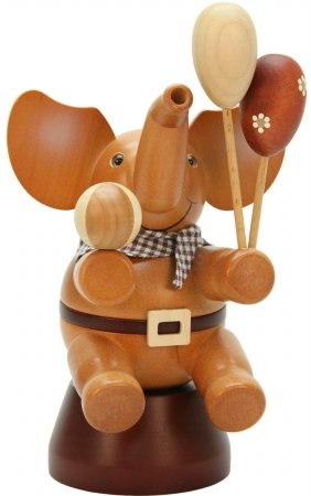 ULBR 1-493 Christian Ulbricht Incense Burner - Elephant with Ball & Balloons, Natural by ULBR