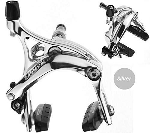Tektro R539 Short Reach Fixie Track Road Bike Dual Pivot Brake Calipers Silver by Tektro