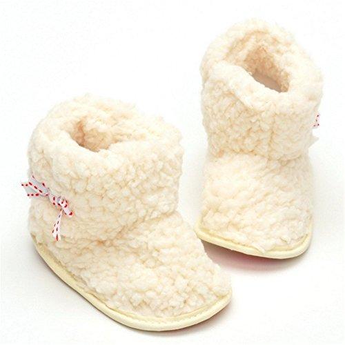 estamico bebé niñas Bow-knot–Botas de nieve de invierno de forro polar Talla:12-18 meses
