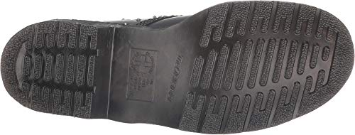 1460 amp; Roll Dr Mujer Liso Rock Negro Martens Botas ZqtF4