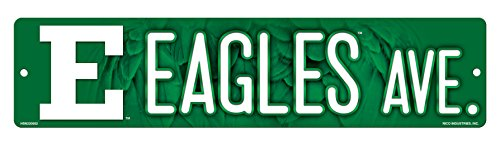 Football Michigan Eastern (NCAA Eastern Michigan Eagles 16-Inch Plastic Street Sign Décor)
