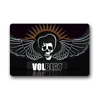 """Personalizado antideslizante rectangular Volbeat Logo interior y exterior entrada alfombra Felpudo decorativo Felpudo 23.6 """""""
