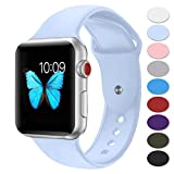 Sport Band for Apple Watch 38mm,Misker Soft Silicone Strap Replacement Wristbands for Apple Watch Sport Series 3 Series 2 Series 1 Nike+ Sports and Edition (38SM Lilac)