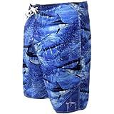 Guy Harvey Legend Camo Boardshorts - Royal Blue - Size 40