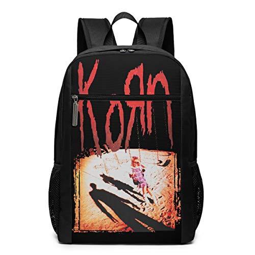 Mr.XiaoLei Kid's Korn Album 1994 Jonathan Davis Nu Metal Backpack 17 Inch Black