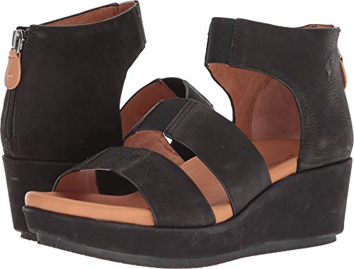 Gentle Souls by Kenneth Cole Women's Milena Triple Stretch Strap Platform Sandal Sandal, black, 9 M US ()