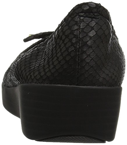 Superbendy Fitflop de Negro para Snake Mujer Balletinas Balletina EAa7xwq
