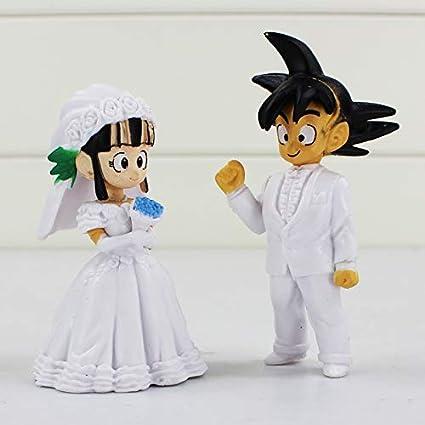 Goku /& Chichi 2PCS Dragon Ball Wedding Collection PVC Figures Wedding Gifts