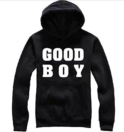 KPOP Bigbang GDXTaeyang Cap Sweater New Album G-dragon Good Boy MV Hoody Hoodie Pullover (Black, XXL)