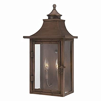 Acclaim 8312CP St. Charles Collection 2 Light Wall Mount Outdoor Light  Fixture, Copper