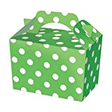 SUPER COOL KIDS POLKA DOT PARTY BOXES - In 6 GREAT COLOURS - PACK OF 10 (happy meal type box) … (Green)